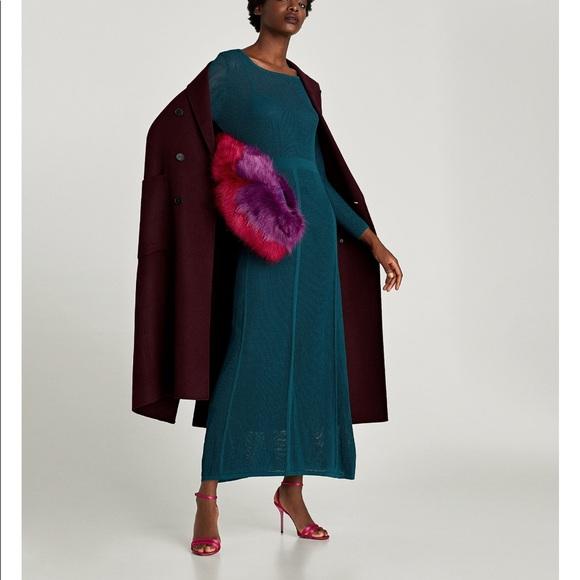 a103cc4b Zara Dresses | Gorgeous Nwt Long Mesh Dress Teal | Poshmark